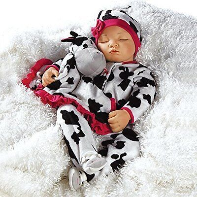 Lifelike Realistic Newborn Weighted Baby Girl Doll Over the Moooon Alive Reborn