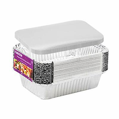 Aluminum Pans Disposable Take Out Containers With Lids - 20 Pans And 20 Lids ...