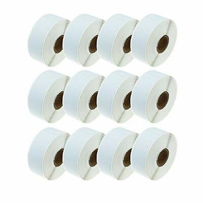 12 Rolls Dymo Compatible 30252 White Labels