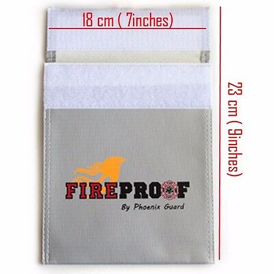 Fire proof pouch Document Money safe bag Fire Water Resistant material 7'' x 9''