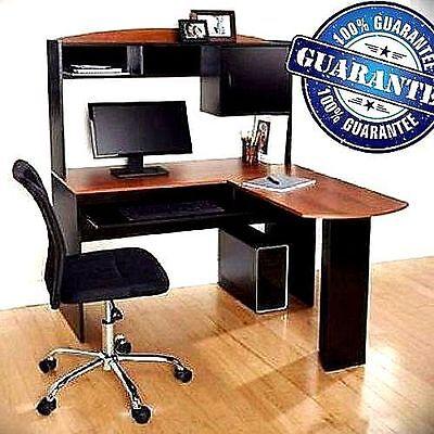Corner Computer Desk LShaped Workstation Laptop Home Office
