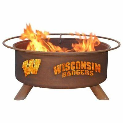 "Patina F217 Wisconsin Fire Pit In Natural Rust Patina 24"" Di"