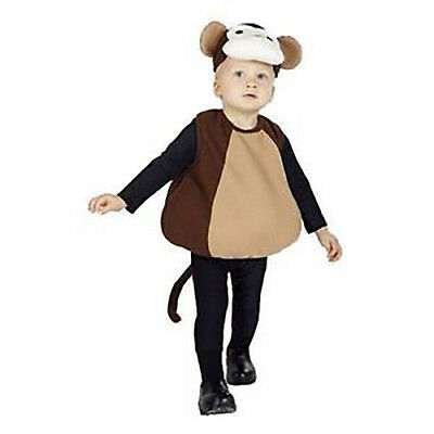 Infant Baby Monkey Halloween Costume Size 1-2 Years NEW Body Suit & Hat Cute