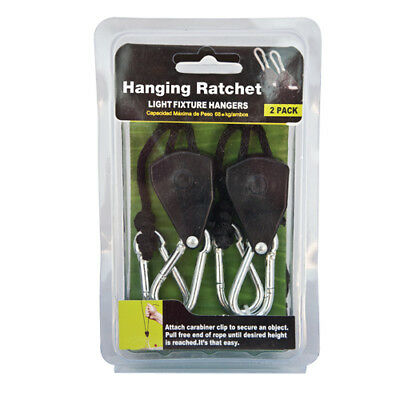 (Rope Ratchet Hangers for Hydroponic Grow Light Reflectors (8'x1/8