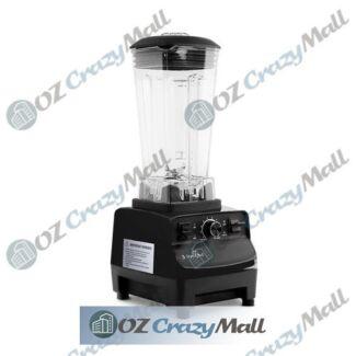 2L 2-in-1 Food Processor Blender Black/Red