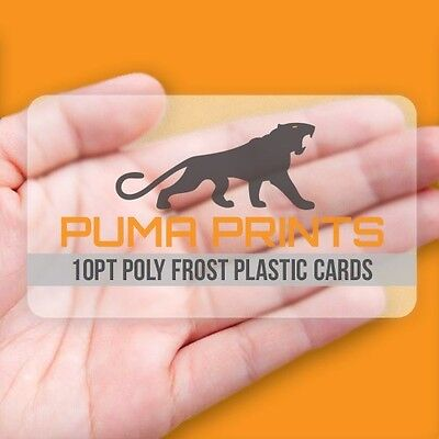 1000 Full Color 10PT Poly Frost FROSTED / TRANSPARENT PLASTIC Business Cards