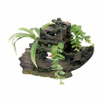 Shipwreck Bow Aquarium Ornament - Penn Plax Large Shipwreck Bow With Plants  RR894 9