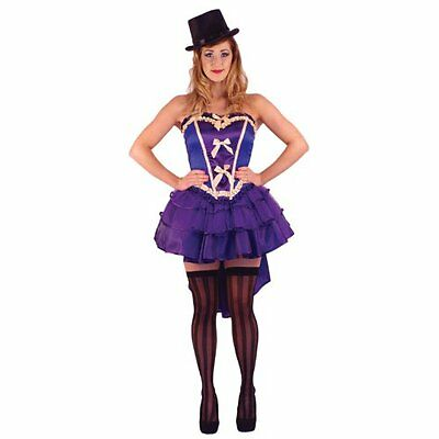 AMSCAN SEXY PURPLE BURLESQUE SHOW GIRL PURPLE COSTUME SIZE M 10-12 HALLOWEEN
