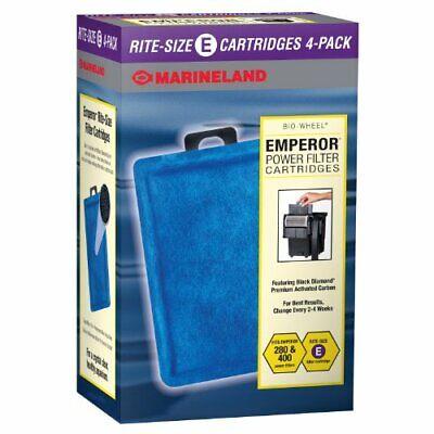 Marineland Rite-Size E Filter Cartridge Refills Fits Emperor 280 400 Filters 4pc Marineland Emperor Filter Cartridge