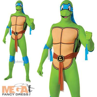 TMNT Leonardo Mens Fancy Dress Teenage Mutant Ninja Turtle Hero Adult Costume - Teenage Mutant Hero Turtle Kostüm