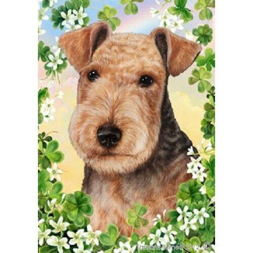 Clover Garden Flag - Lakeland Terrier 312341