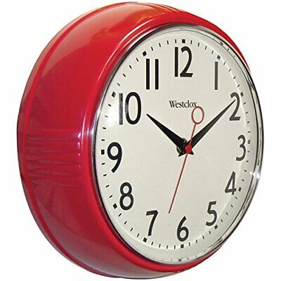Westclox 32042R Retro 1950 Kitchen Wall Clock, 9.5-Inch Decoration Antique Style