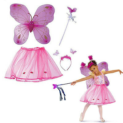 Hot Fairy Costumes (Dazzling Toys Hot Pink Fairy Princess Set BUtterfly Fairy Costumer)