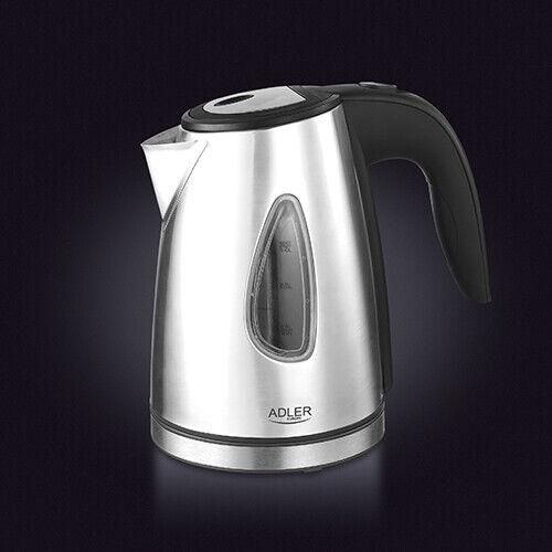 Wasserkocher Edelstahl 1 Liter handlich compact, zeitloses Design
