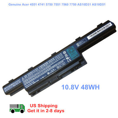 Genuine Battery for Gateway 4741 AS10D AS10D31 AS10D41 AS10D51 AS10D71 AS10D75