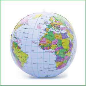 Inflatable globe educational toys ebay bow up globe 40cm world map atlas earth education inflatable toy ball party gift gumiabroncs Image collections