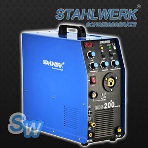 Welding machine STAHLWERK MIG MAG 200 w. TIG MMA - SHIELDING GAS Welder Inverter