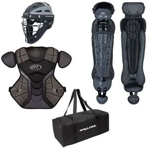 Baseball catchers equipment youth junior senior chest legs mask