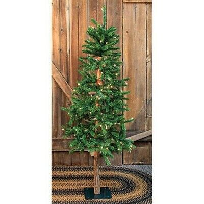 Country PRE-LIT ALPINE ARTIFICIAL CHRISTMAS TREE Primitive Holiday - 6ft.