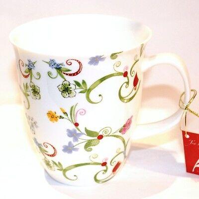Teetasse Henkelbecher Kaffeebecher Fleurette Porzellan