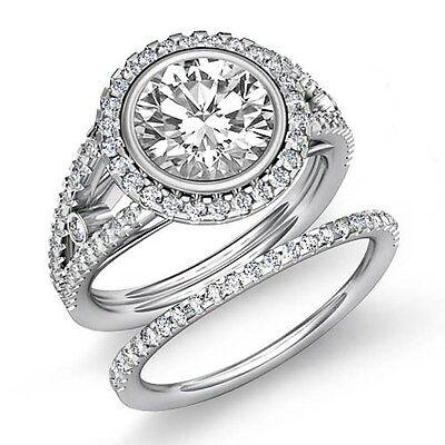 2.6ct Round Diamond Engagement Bridal Prong Set Ring GIA F VS1 14k White Gold