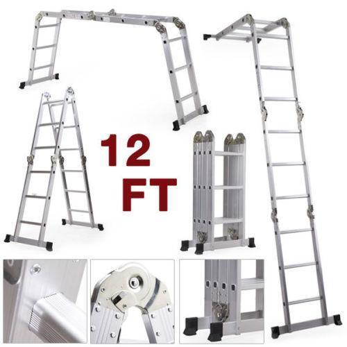 12 Foot Aluminum Step Ladders : Ft step ladder ebay