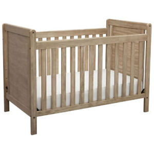 Delta Children Chloe 4-in-1 Convertible Crib - Rustic Whitewash