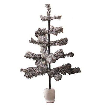 Bethany Lowe - Halloween - Black/Ivory Tiger Feather Tree - - Halloween Feather Tree