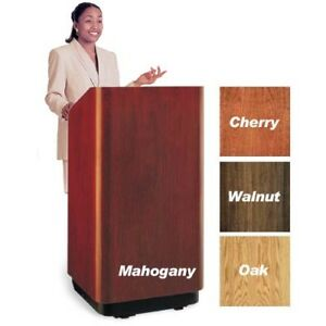 lectern with sound  christie projector with 10 foot screen