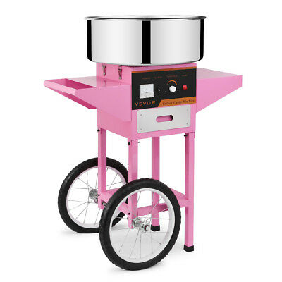 Heavy Duty Commercial 1030w Electric Cotton Candy Machine Floss Maker Cart Cover