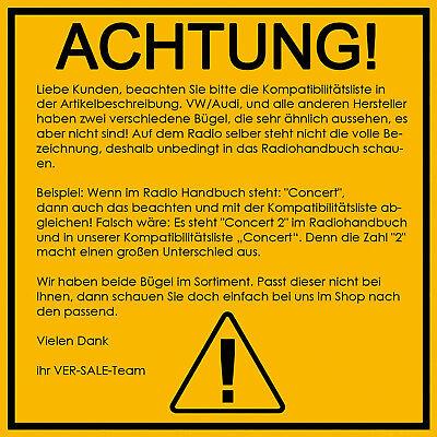 Auto Radio Entriegelung für VW Audi Seat Skoda Mercedes Ford Navi Ausziehhaken