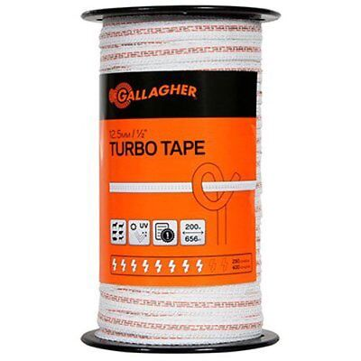 Gallagher G623544 Electric Fence12-inch Turbo Tape 656-feet White