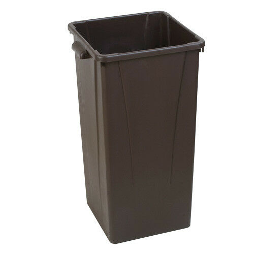 Carlisle Centurian Tall Square Waste Container, 23 Gallon Capacity, Gray