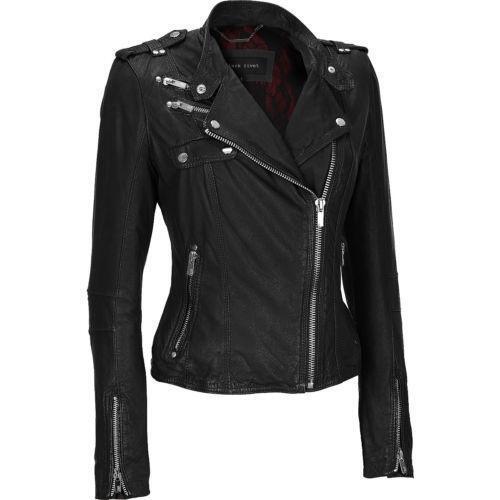 Womens Black Leather Jacket Small Ebay