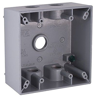 Do It - Black Two-gang Box Outdoor Light 535850 Wet Locations 5 Outlets