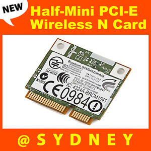 Broadcom BCM943224HMS Wireless N Dual-Band HalfMini PCI-E WIFI WLAN Card BCM4322