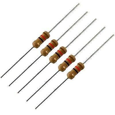 5 Pack -- 1 Watt 5 Carbon Film Resistors - 12 Ohm