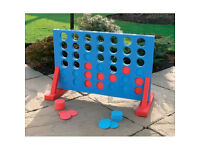 GIANT CONNECT 4 IN A ROW GARDEN OUTDOOR GAME KIDS ADULTS FAMILY FUN