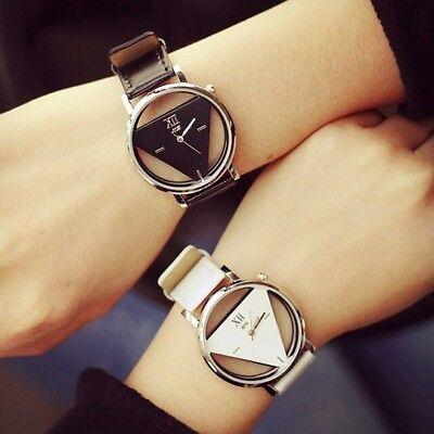 NEU Damen und Herren Armband Uhr Quarz Armbanduhr Dreieck