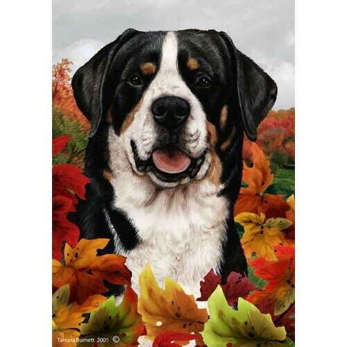 Fall House Flag - Greater Swiss Mountain Dog 13144