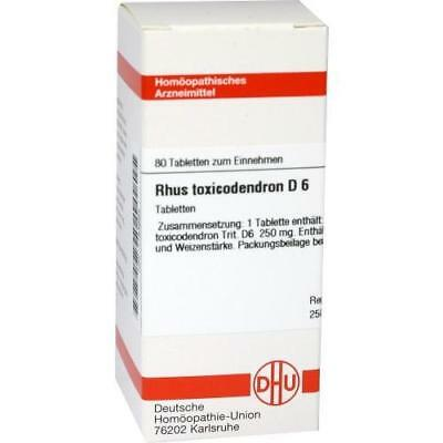 RHUS TOXICODENDRON D 6 Tabletten 80 St PZN 1783694