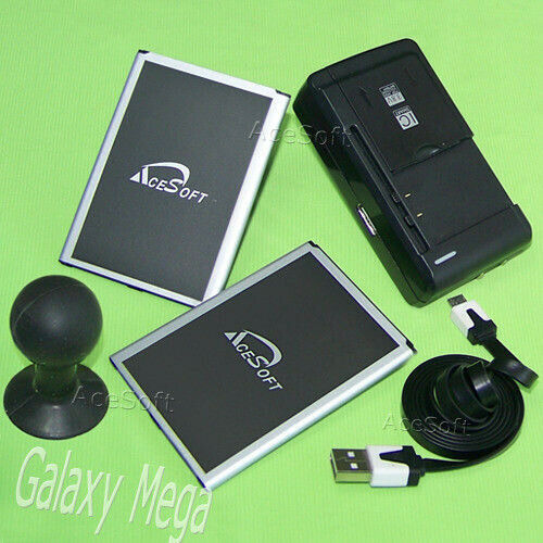 AceSoft Battery Charger for Samsung Galaxy Mega 6.3 i9200 m8