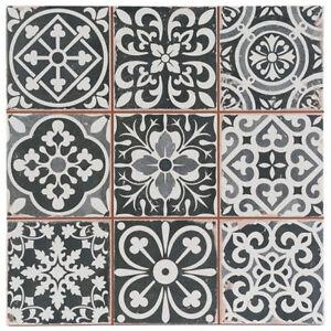 Victorian Marrakesh Black Decor Wall & Floor Tile 33x33cm