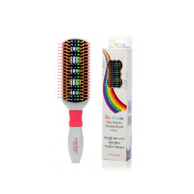 [EYECANDY] Rainbow Max Volume Styling Brush White