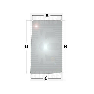 John Deere Lh Side Glass Part Wn-r96194 On Tractor 7200 7210 7400 7410 7510 7600