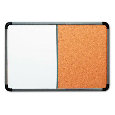 Iceberg Combo Dry Erasecork Board 36 X 24 Whitecork Charcoal Frame Ea