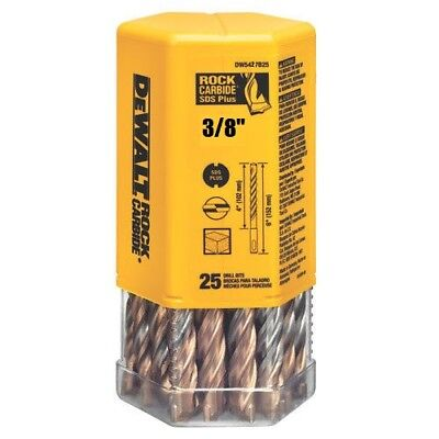 Pack Of 25 Bits Dewalt Dw5427b25 38 X 6 Masonry Drill Bit Sds Plus