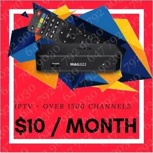 IPTV - $10 / MO - 1400+ CHANNELS - NO FREEZING