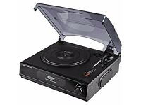 AMOS USB Turntable 3 Speed Vinyl Record Player Vinyl - MP3 Digital Converter w/Stereo Speakers & RCA