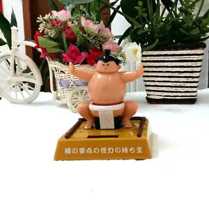 SUMO WRESTLER DANCING SOLAR POWERED FIGURE WIGGLING